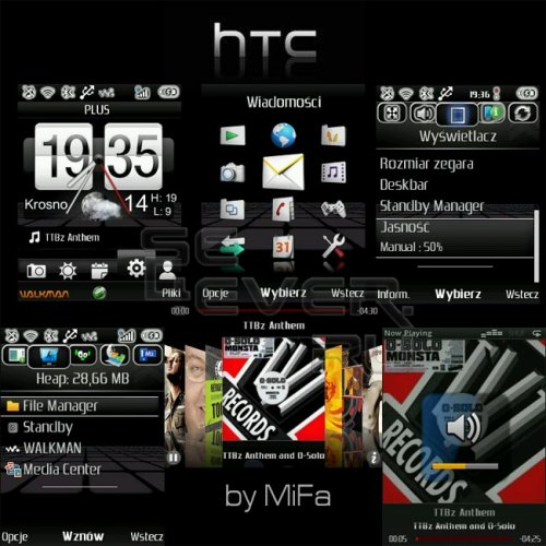HTC ModPack for Sony Ericsson W995