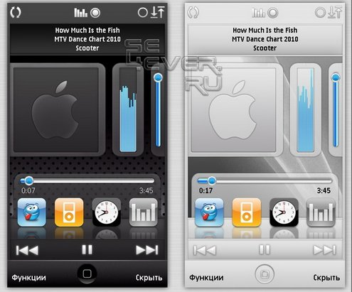 iPod White and black - cкины для плеера PowerMp3