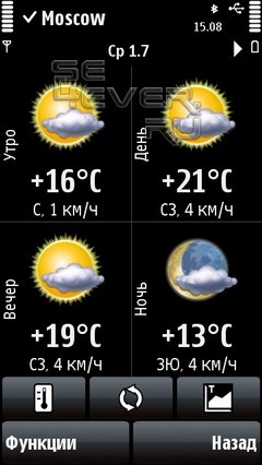 Epocware Handy Weather - прогноз погоды на смартфоне