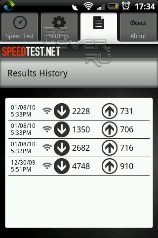 Speed Test - Проверка скорости интернета на Android