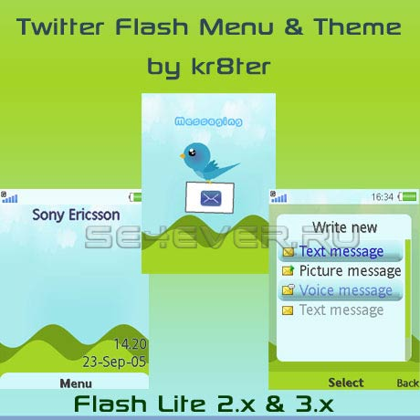 Twitter - Flash Menu & Theme For SE FL 2.х & 3.x