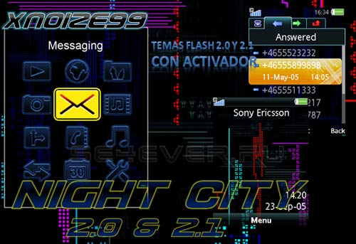 Night City - Flash Theme 2.0 & 2.1