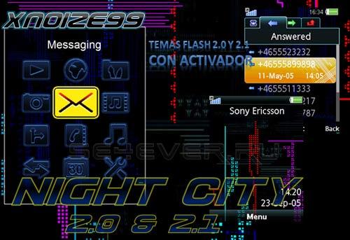 Night City - Flash Theme 2.0 & 2.1