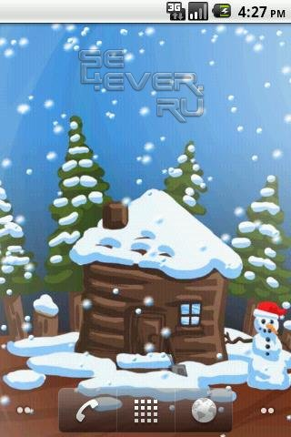 Christmas Snow Globe Live Wallpaper - Живые обои