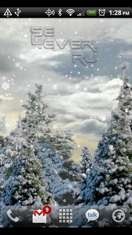 Snowfall Charity LiveWallpaper - Зимние живые обои