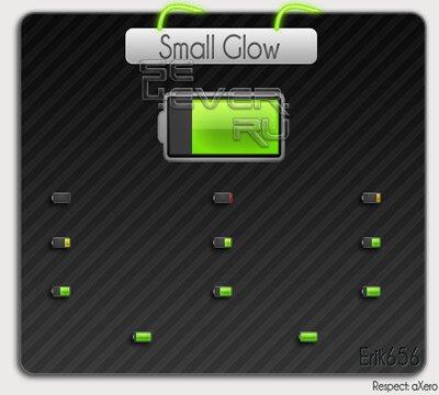 Small Glow - Иконки батареи для Sony Ericsson