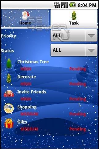 Christmas Manager - Рождественский планировщик задач для Android