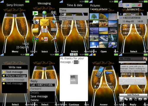 New Year Flash Wallpaper & Flash Menu & Theme For Sony Ericsson Aino