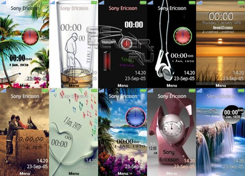 Themes With Flash Wallpapers For Sony Ericsson Aino