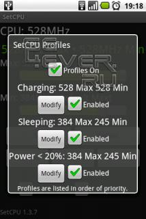 SetCpu - Программа для Андроид