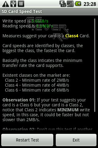 SD Card Speed Tester - Тест SD карты
