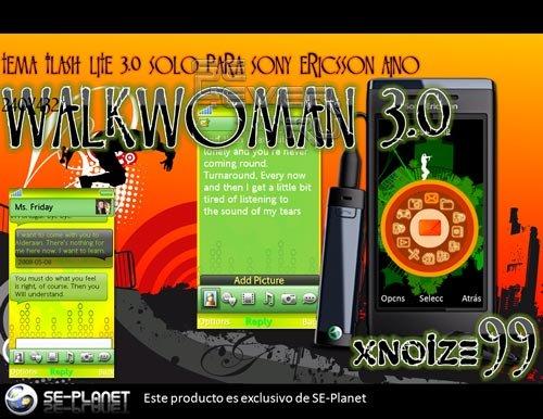 Walkwoman Flash Lite 3.0 - Тема с флеш меню для SE Aino