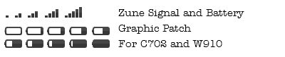 Zune Signal & Battery GFX patch for C702 R3EK002 & W910 R1FA037