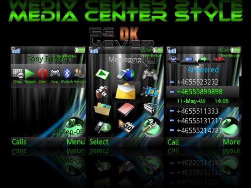 Media Center Style - Тема для Sony Ericsson 240х320