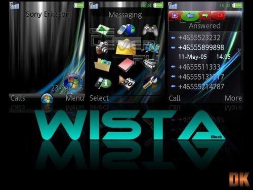 Wista Black - Тема на SE 240х320