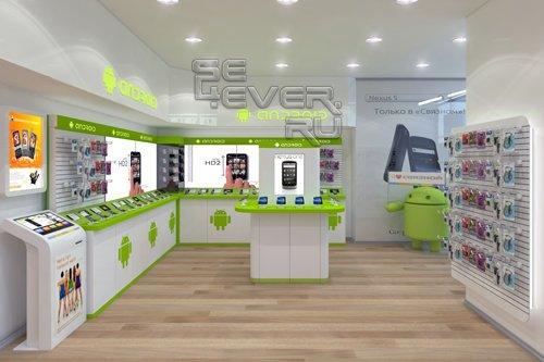 Впервые в России. «Связной» открыл shop-in-shop для Android-смартфонов