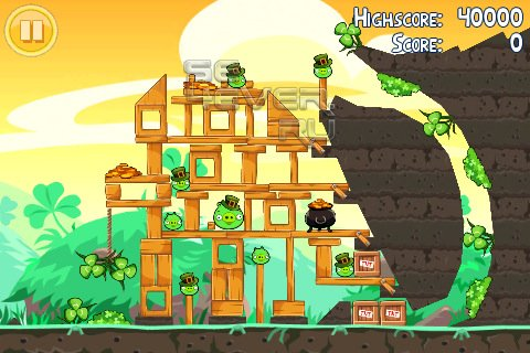 Angry Birds Seasons+appy St. Patrick's Day-игра для android