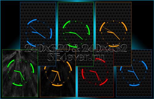 Lined Clock - Флэш часики 240х320 и 240х432