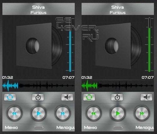 Metallic - Скин для плеера TTpod
