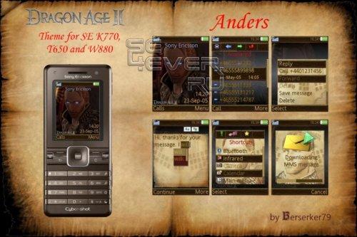 Dragon Age II Anders - Темa для Sony Ericsson A100 240x320