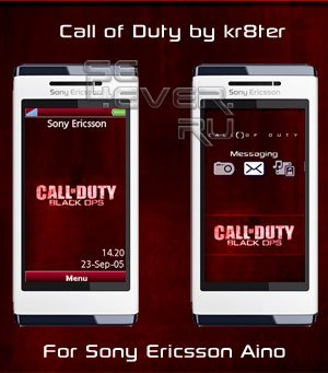 Call of Duty - Theme & Flash Menu For SE Aino