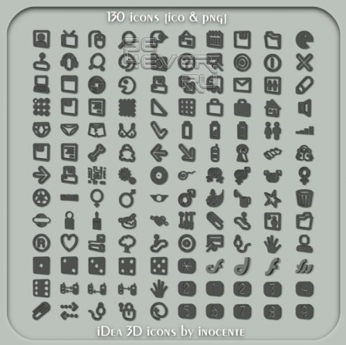iDea 3D - Набор иконок