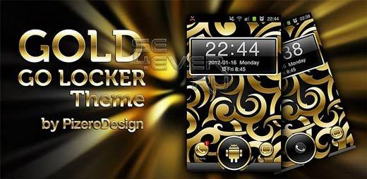 Gold Droid GO Locker Theme
