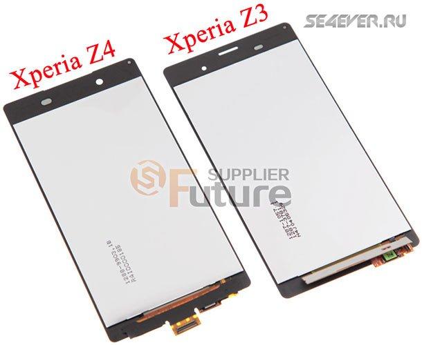 LCD ������ Sony Xperia Z4. ��������� � Sony Xperia Z3