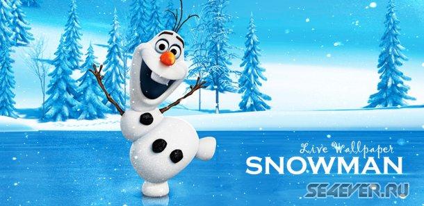 Snowman Live Wallpaper - �������� ����� ����
