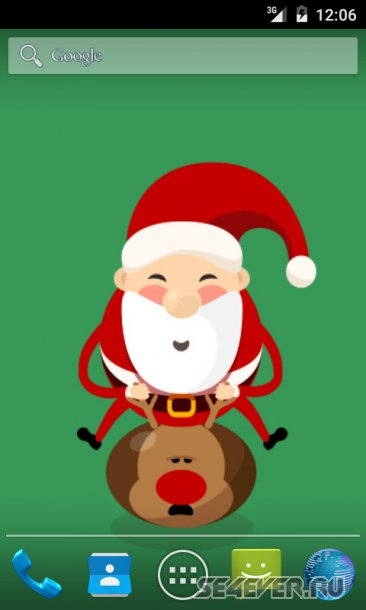 Bouncing  Santa Live Wallpaper