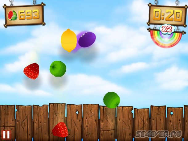 Fruit Ninja vs Skittles на Андроид