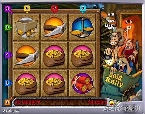 Золотое путешествие в казино Вулкан вместе с игровым автоматом Gold Rally