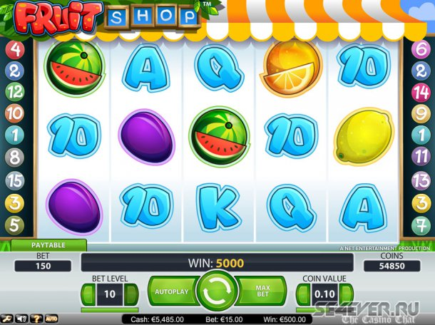 Fruit Shop. Новый автомат в казино Вулкан